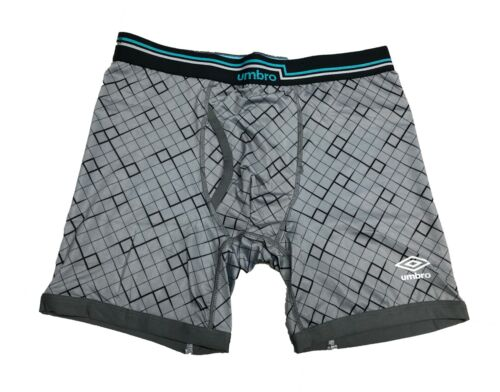 Grey or Blue Single NWT Umbro Men/'s Performance Boxer Brief