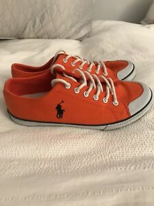 Eur Ralph Lauren 36 4 Orange États basses 5 Unis Uni Baskets Royaume Polo 4 Etw8pp