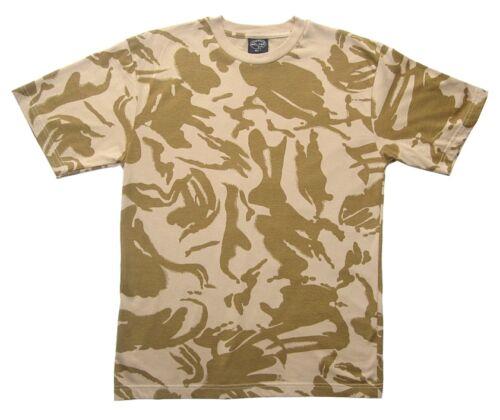British DPM Desert Camouflage T-Shirt 100/% Cotton Army Military Top New