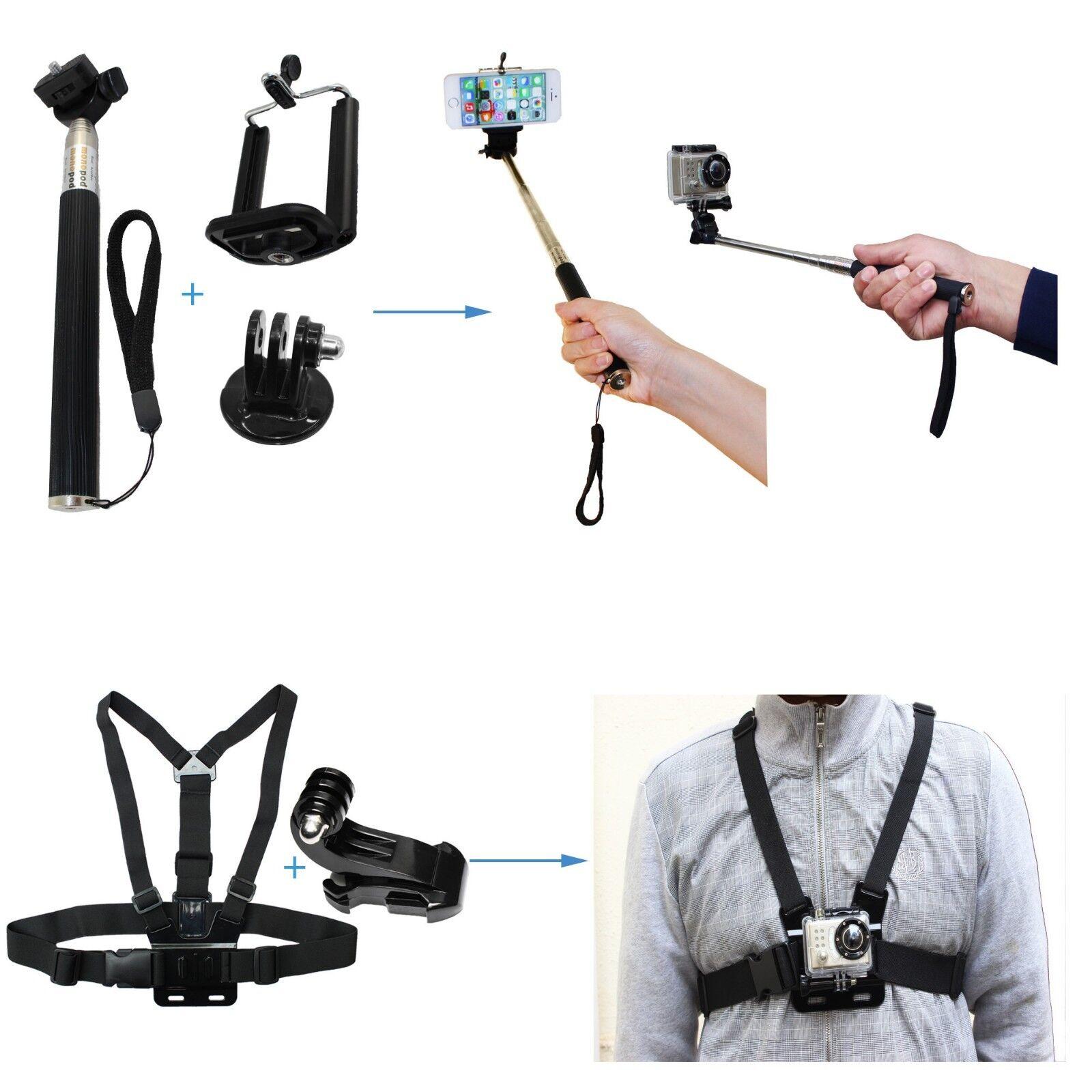 GoPro HERO7 Black Action Camera Accessories Kit For Go Pro Hero 6/5/4 New Model 12