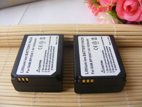 2X Replacement Battery For Samsung BP1030 1030b NX1000,NX1100 NX200 NX210 NX2000