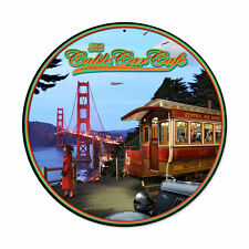 San Francisco Golden Gate Bridge Cable Car Cafe Retro Sign Blechschild Schild