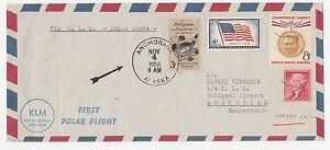 STORIA-POSTALE-AEREA-1958-USA-P-A-VOLO-ANCHORAGE-ALASKA-AMSTERDAM-Z-4922