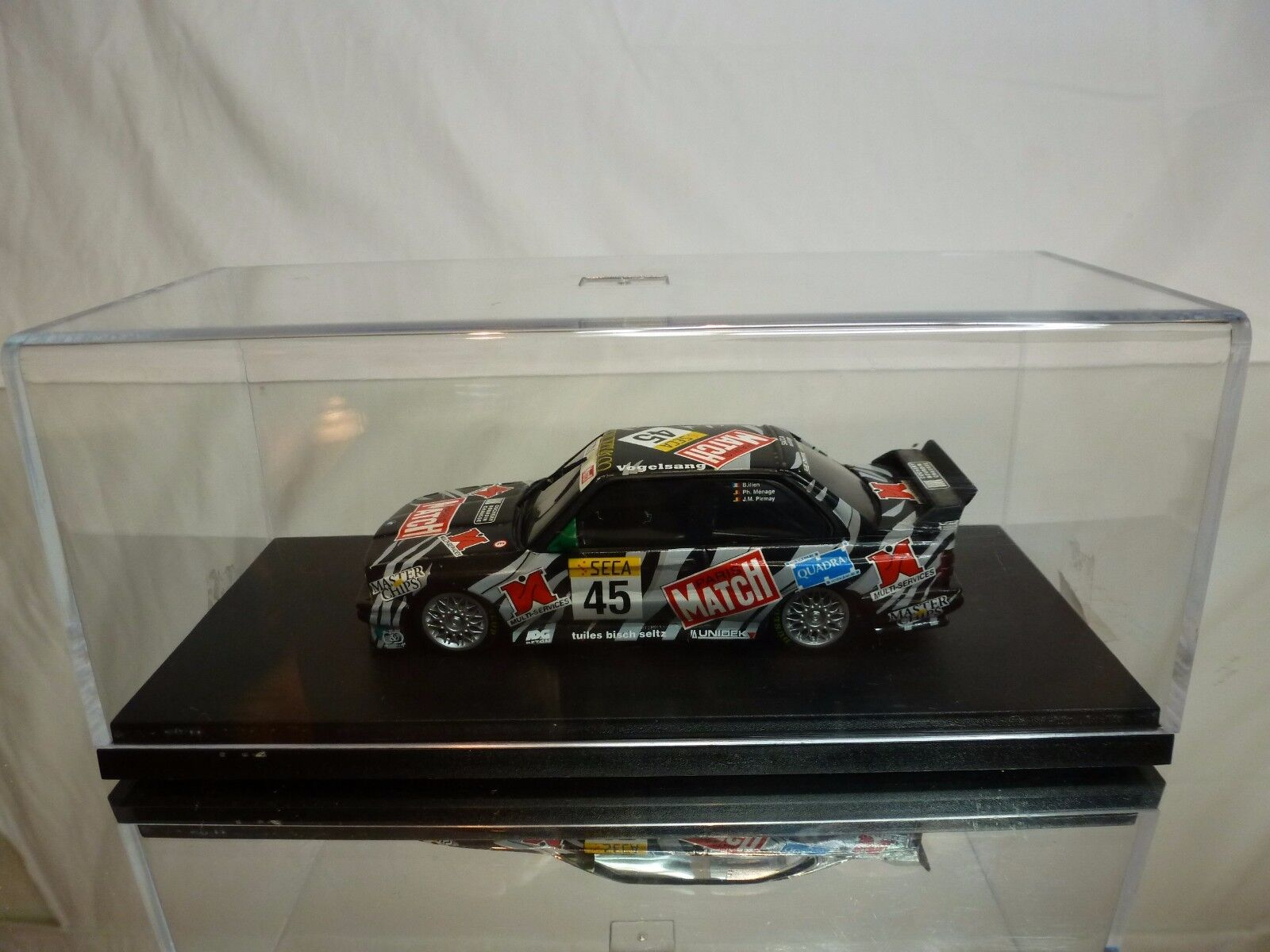 MINICHAMPS BMW M3 E30 - SECA MATCH - ILIEN MENAGE PIRMAY - 1 43 - GOOD IN BOX