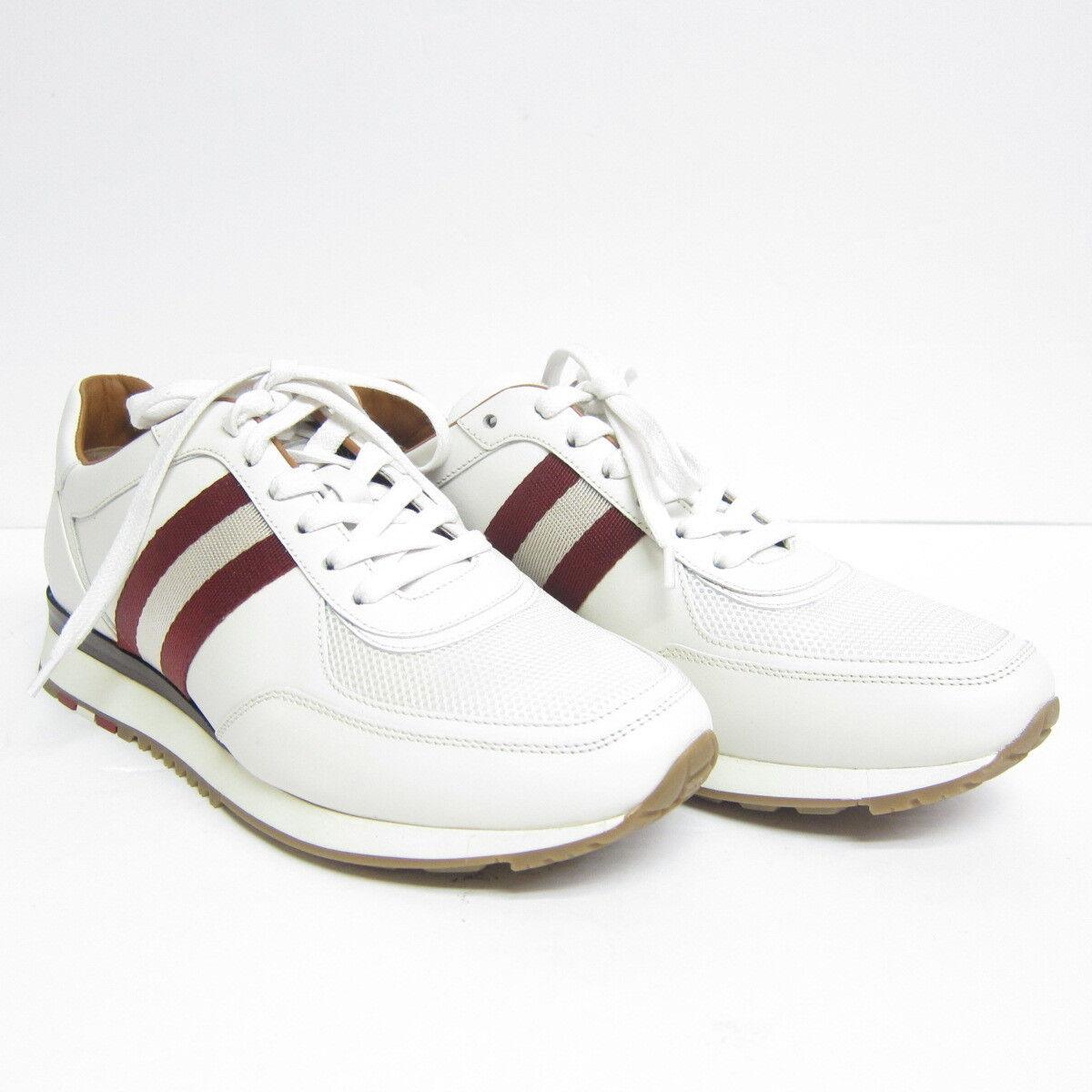 P-636143 Nuovo Bally Aston Bianco Polpaccio Tinta Unita scarpe da ginnastica Us 9 Eu 8 Fr 42