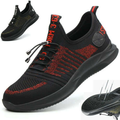 Men Women Safety Steel Toe Cap Mesh Work Protector Trainers Hiker Shoes SZ4-11.5