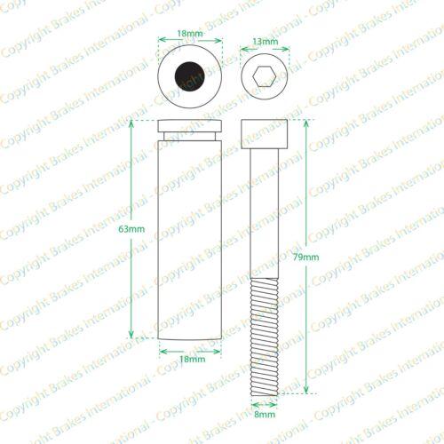 MERCEDES VIANO W639 2x FRONT BREMBO CALIPER SLIDER PIN GUIDE KITS BCF1386AX2