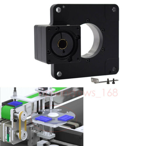 Hollow Rotating Platform Electric Rotary Table 5:1 Gearbox for 50W Servo Motor