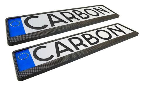 POSTERIORE 2 Pezzi PORTATARGA TARGA supporto in carbonio opel ANTERIORE