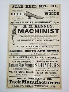 1887 Lynn Massachusetts Advertisement Shoes Cilley Roney Lummus Legro Wheeler