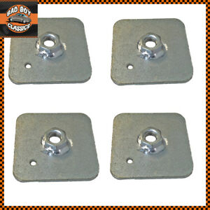 Seat-Belt-Harness-Eye-Bolt-Backing-Mounting-Plate-7-16-Thread-UNF-x4