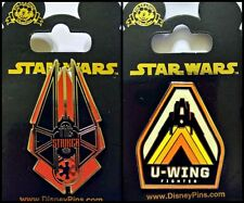 Disney Parks 2 Pin Lot Star Wars Tie Striker + U-Wing Fighter Force Awakens
