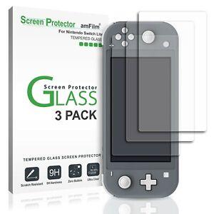 amFilm-3-Pack-Nintendo-Switch-Lite-Screen-Protector-Premium-Tempered-Glass