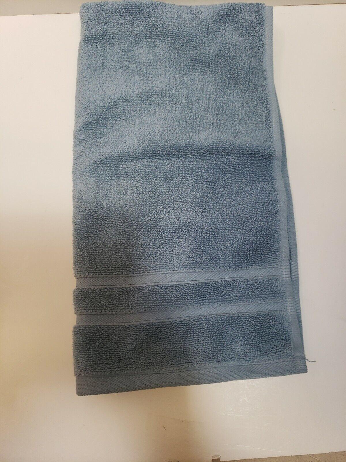 Waterworks Studio Bath Cotton Edisto Blue Hand Bath Towel blue 16 x 30 Inch