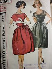 VINTAGE 1960'S SIMPLICITY EVENING COCKTAIL DRESS SEWING DRESSMAKING PATTERN