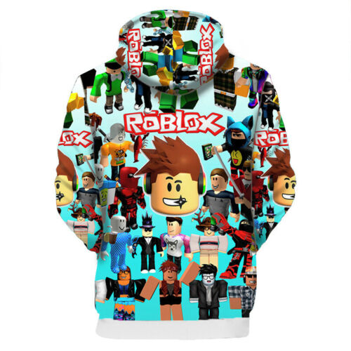 Roblox 3D Kostüm Jungen Kinder Langarm Kapuzenpullover Pullis Hoodie Sweatshirt