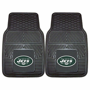Nfl New York Jets Fan Mats Heavy Duty Vinyl Car Truck Floor Mats 2pcs Set Ebay