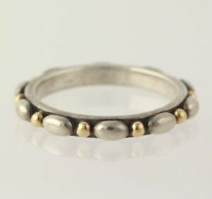 NEW-Authentic-Pandora-Opposites-Attract-Ring-Sterling-amp-14k-Gold-190856-54-6-75
