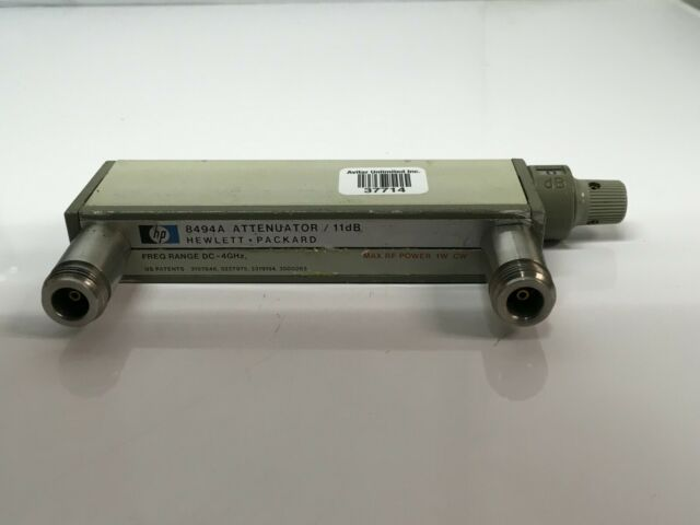 HP Agilent 8494G-002 DC to 4 GHz Programmable Step Attenuator Tested! 0-11 dB