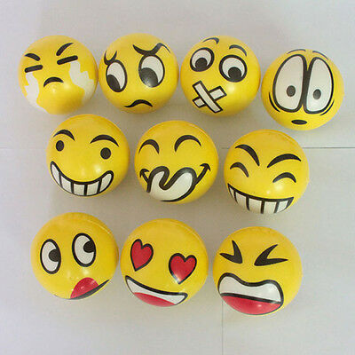 Cute Smiley Face Anti Stress Reliever Ball ADHD Autism Mood Toy Squeeze Relief