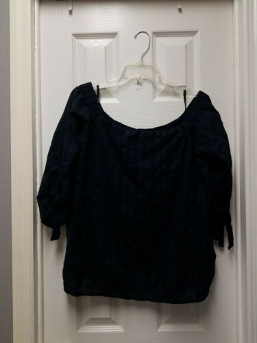 Bailey 44 Womens Navy Yarrow Top Textured Knit Off