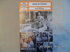 CARTE FICHE CINEMA 1951 GIBIER DE POTENCE Arletty Georges Marchal Pierre Dux
