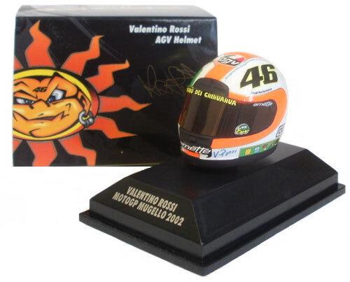 Minichamps Valentino Rossi Casco MotoGP Mugello 2002 1 8 Escala