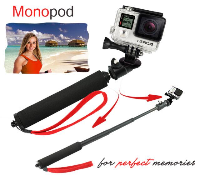 Telescoping Extendable Pole Handheld Monopod Tripod Adapter GoPro Hero  2 3 3+ 4