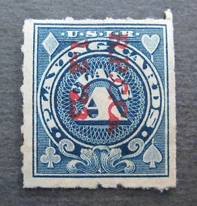 U.S. Revenue Stamp - RF17 Blue - Playing Cards Class A - *Free Shipping*