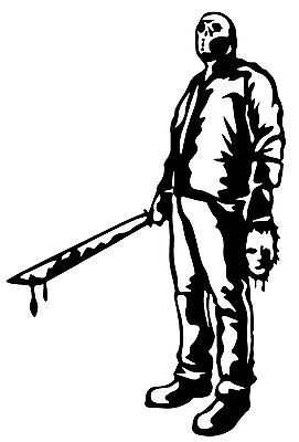 JASON Voorhees Friday the 13th Horror Vinyl Decal Sticker ...