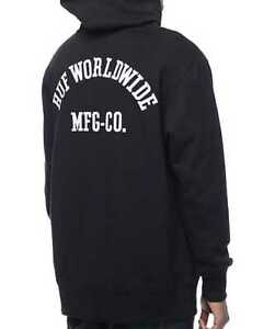 Details about NEW MEN'S XL HUF WORLDWIDE BLACK SKATE HOODIE