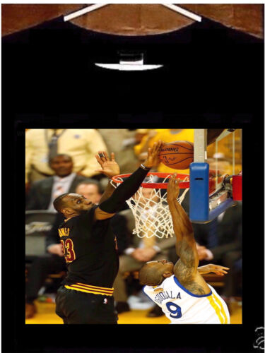 Lebron James T Shirt; Cleveland Cavaliers Champ Lebron James The Block Tee Shirt