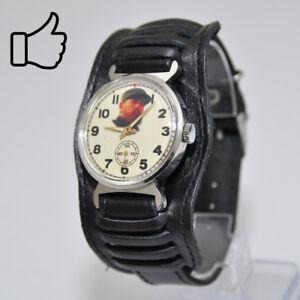 Vintage Watch Uhren & Schmuck Pobeda Fidel Castro Cuba Armbanduhr Sammleruhr Made In Ussr Kuba Schnelle WäRmeableitung Sammleruhren