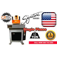 New Cjrtec 10 Ton Swing Arm Clicker Press Hydraulic Die Cutting Machine