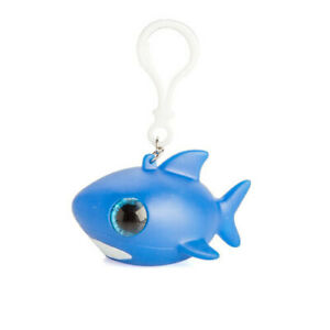 SHARK-ATTACK-Cute-amp-Weird-Animal-Eye-Popper-Clip-On-Keychain-w-Big-Sparkly-Eyes