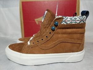 f578c0584f Vans New SK8 Hi MTE Suede Leather Monks Robe Brown White Fur Shoe ...