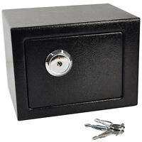 Key Operated Home Security Money/Cash Safe Security Box Strong Steel Hotel Motel