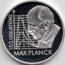 10 Euro Gedenkmünze 150. Geburtstag Max Planck 2008 Polierte Platte Silber 925/-