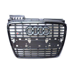 Audi-S4-8E-B7-Kuehlergrill-schwarz-glaenzend-Frontgrill-A4-RS4-Grill