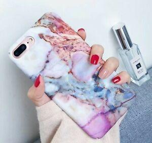 Bumper-Cover-Handyschale-Iphone-6-6s-Marmor-Effekt-rose-weiss