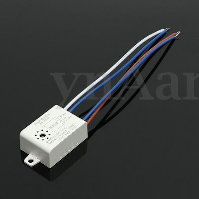 220V LED Sound & Light Controled Switch Energy Sensor Auto On Off  Lamp Acoustic