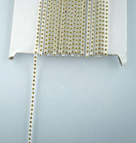 SS6 A Grade glass crystal 2mm Rhinestone white banding Trim Setting chain 10Yard