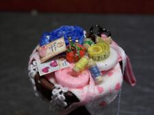 Dollhouse Miniature Artisan Sewing Basket 1:12 One Inch Scale H71 Dollys Gallery