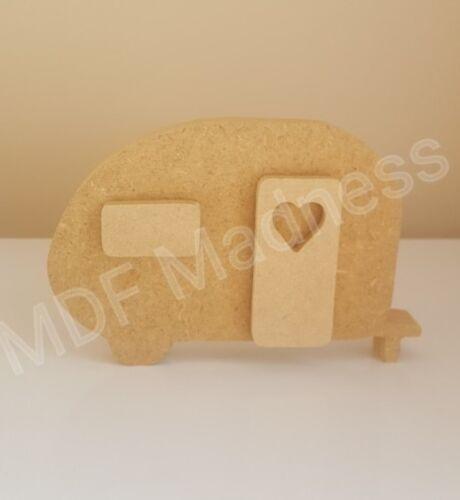 en bois 3D Caravane 18 mm autoportante 15 cm de long MDF CRAFT Forme