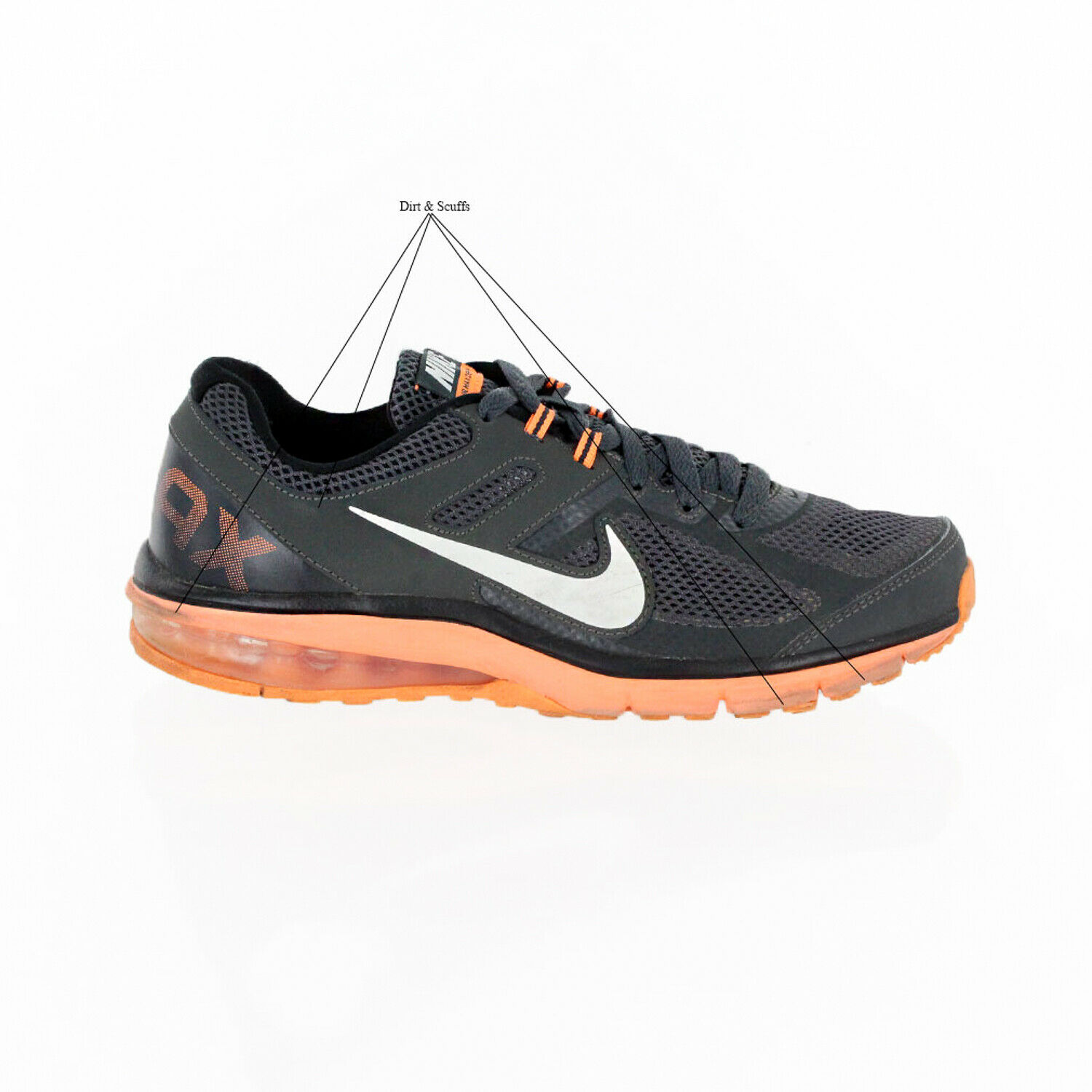 NIKE AIR MAX DEFY RN MENS RUNNING SHOES 599343-008 SIZE 7.5