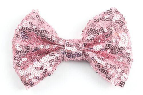 Cute Kids Girls Baby Glitter Shiny Sequin Bowknot Hair Clip Hair Bow Hairpin