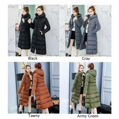Women Winter Coat Down Jacket Ladies Hooded Jackets Long Puffer Parka Warm Gift