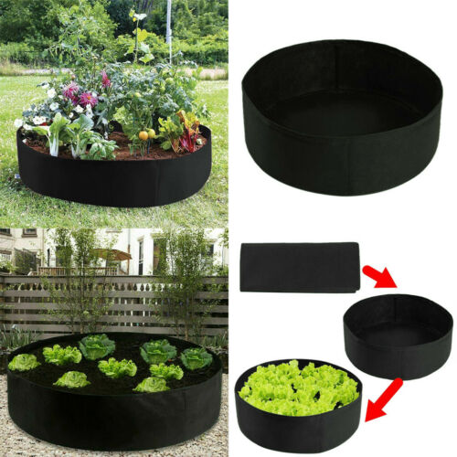 Garden Raised Fabric Bed Planting Flower Plant Elevated Vegetable Grow Bag
