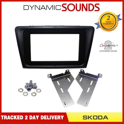 CT23SK08 Double Din Stereo Fascia Adaptor Black for Skoda Rapid 2014 Onwards