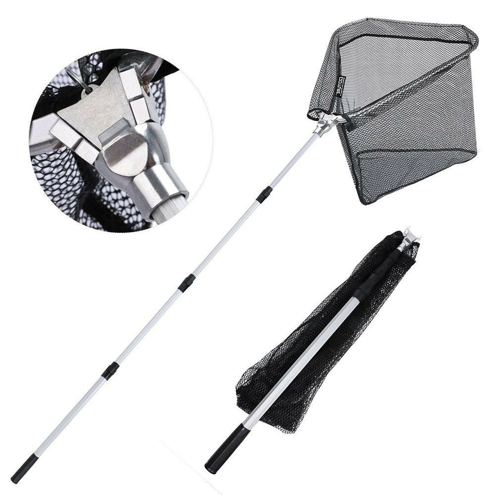 Durable Aluminum Telescoping Pole Folding Nets 300cm  210cm 150cm Landing Nylon  big discount